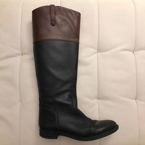 Enzo Angiolini Black/Brown Eaellerby Boots